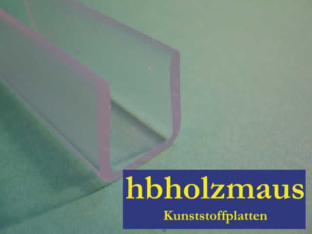 acrylglas u klemm profil klar ma e 13 x 8 x 6 x 1 4 mm hbholzmaus kunststoffe. Black Bedroom Furniture Sets. Home Design Ideas