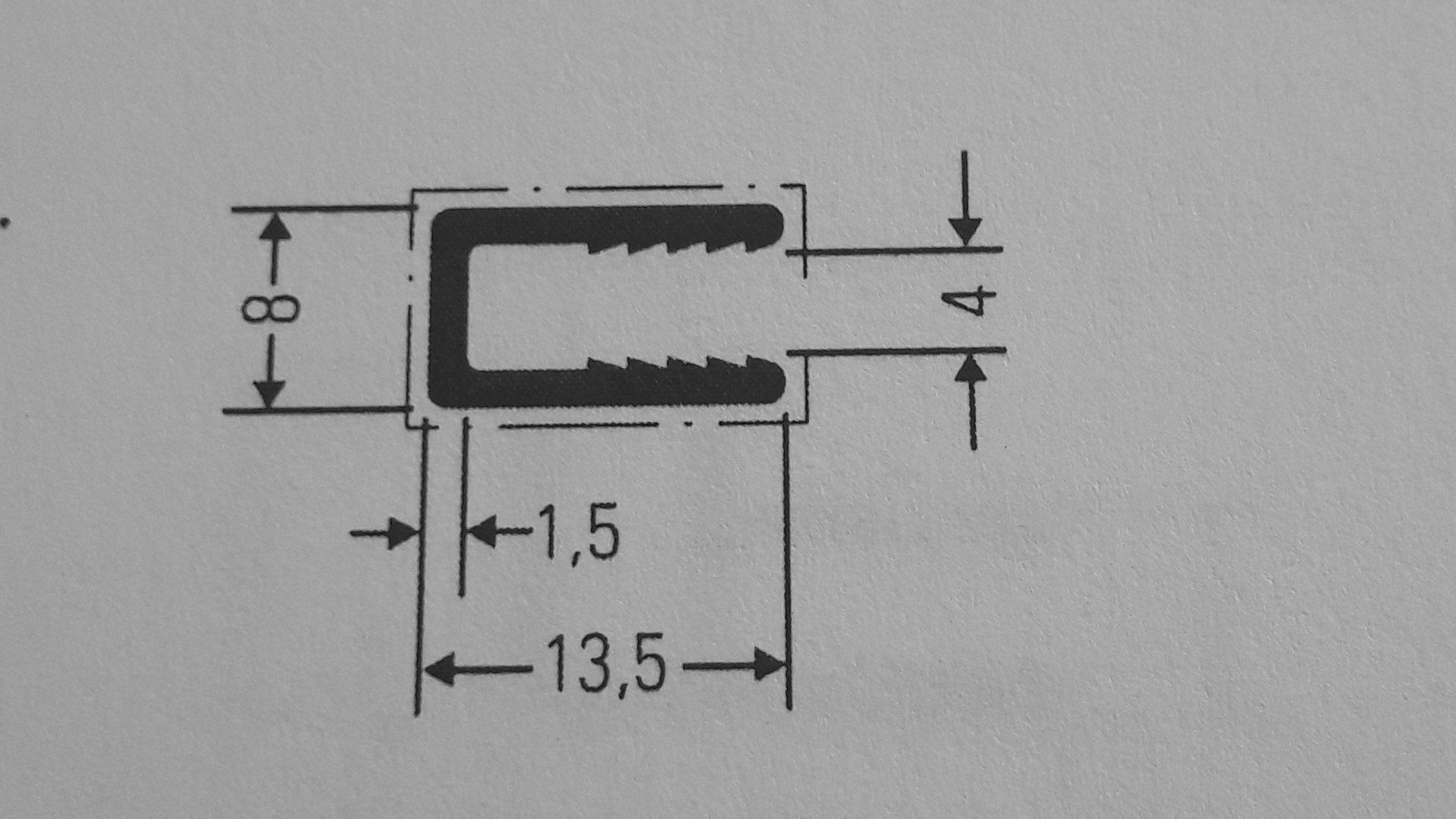 Fabulous Aluminium U - Profil für 4 mm Platten - hbholzmaus-Kunststoffe CG88